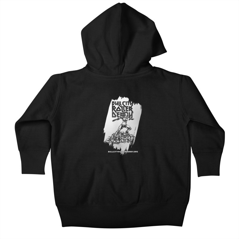 Bull City- HEAVY METAL Reverse Kids Baby Zip-Up Hoody by nonnahsonic's Artist Shop
