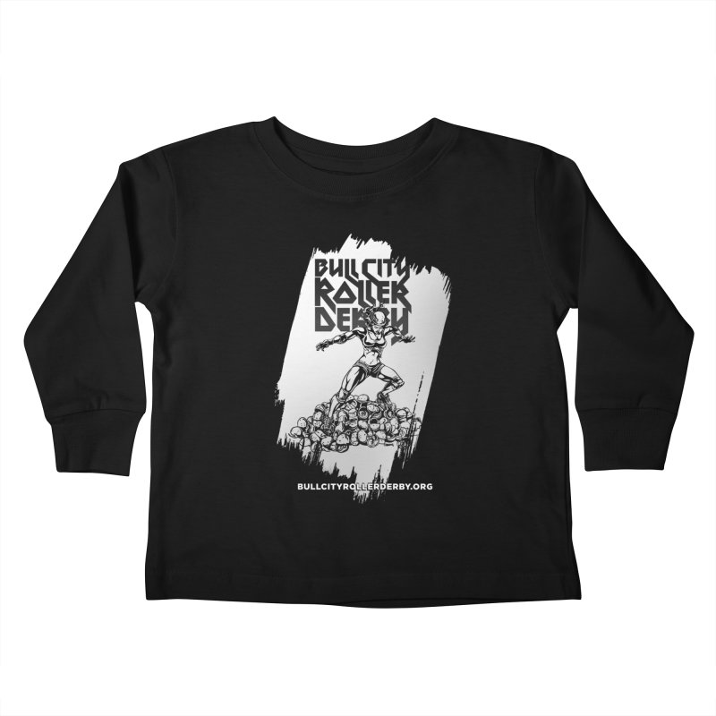 Bull City- HEAVY METAL Reverse Kids Toddler Longsleeve T-Shirt by Bull City Roller Derby Shop