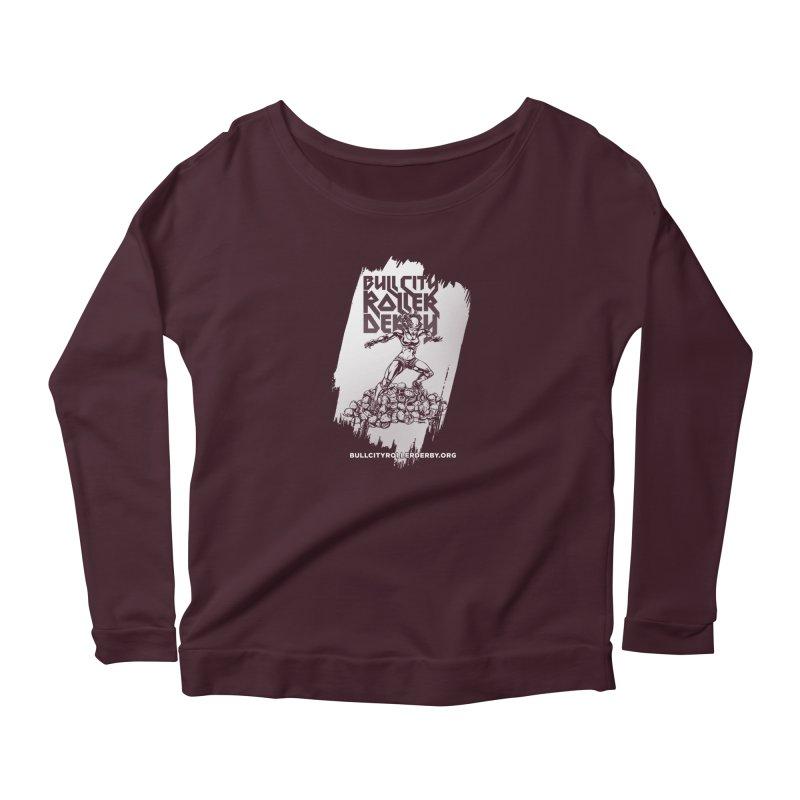 Bull City- HEAVY METAL Reverse Women's Scoop Neck Longsleeve T-Shirt by Bull City Roller Derby Shop