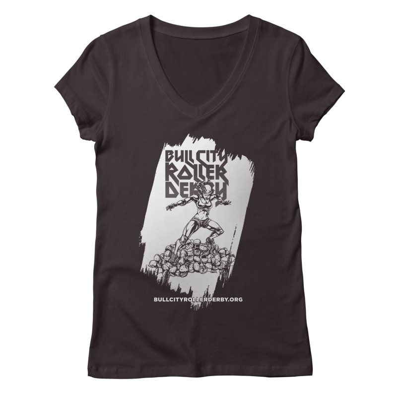 Bull City- HEAVY METAL Reverse Women's V-Neck by nonnahsonic's Artist Shop