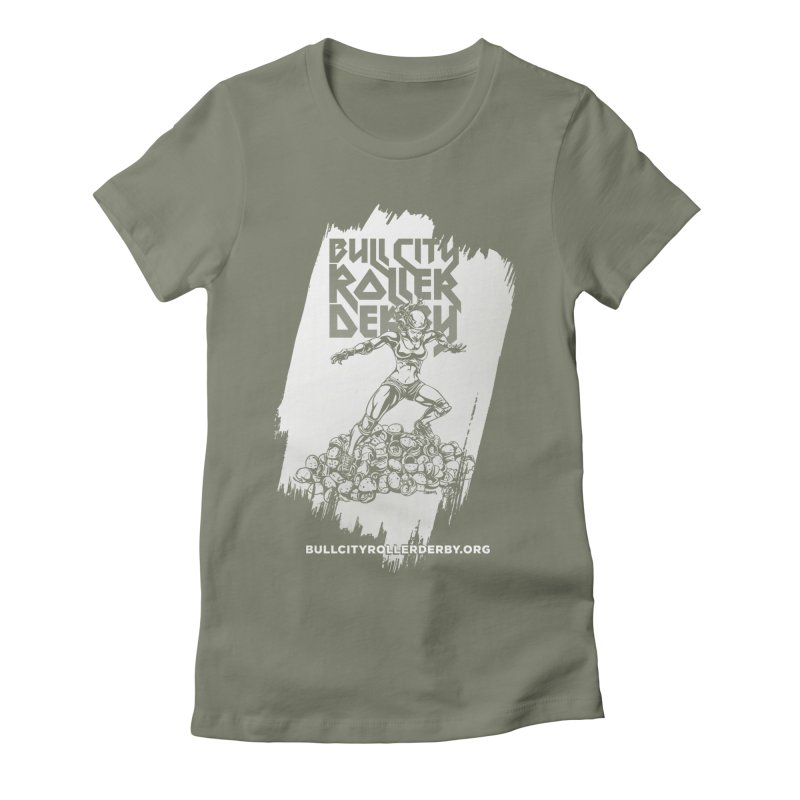 Bull City- HEAVY METAL Reverse Women's Fitted T-Shirt by nonnahsonic's Artist Shop