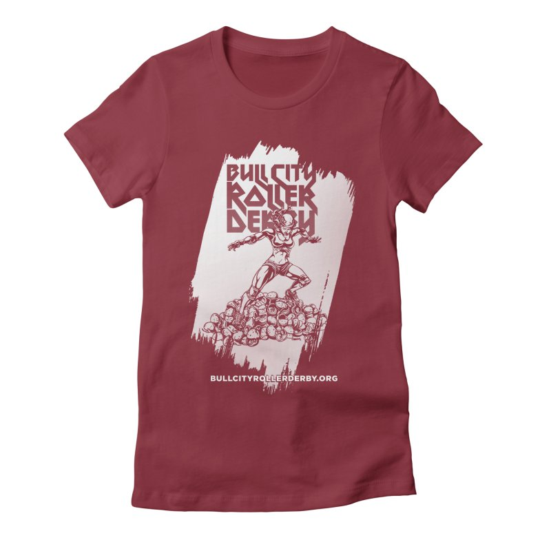 Bull City- HEAVY METAL Reverse Women's Fitted T-Shirt by Bull City Roller Derby Shop
