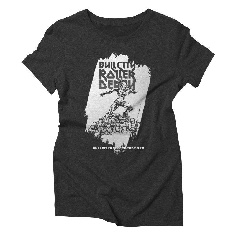 Bull City- HEAVY METAL Reverse Women's Triblend T-Shirt by nonnahsonic's Artist Shop