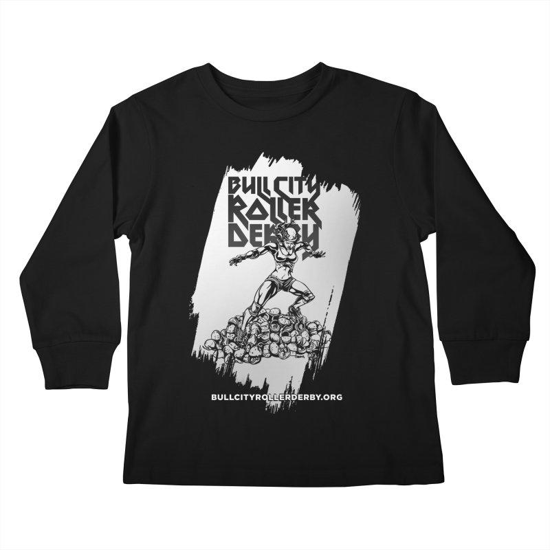 Bull City- HEAVY METAL Reverse Kids Longsleeve T-Shirt by Bull City Roller Derby Shop