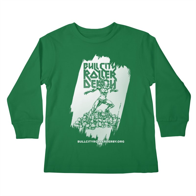 Bull City- HEAVY METAL Reverse Kids Longsleeve T-Shirt by nonnahsonic's Artist Shop