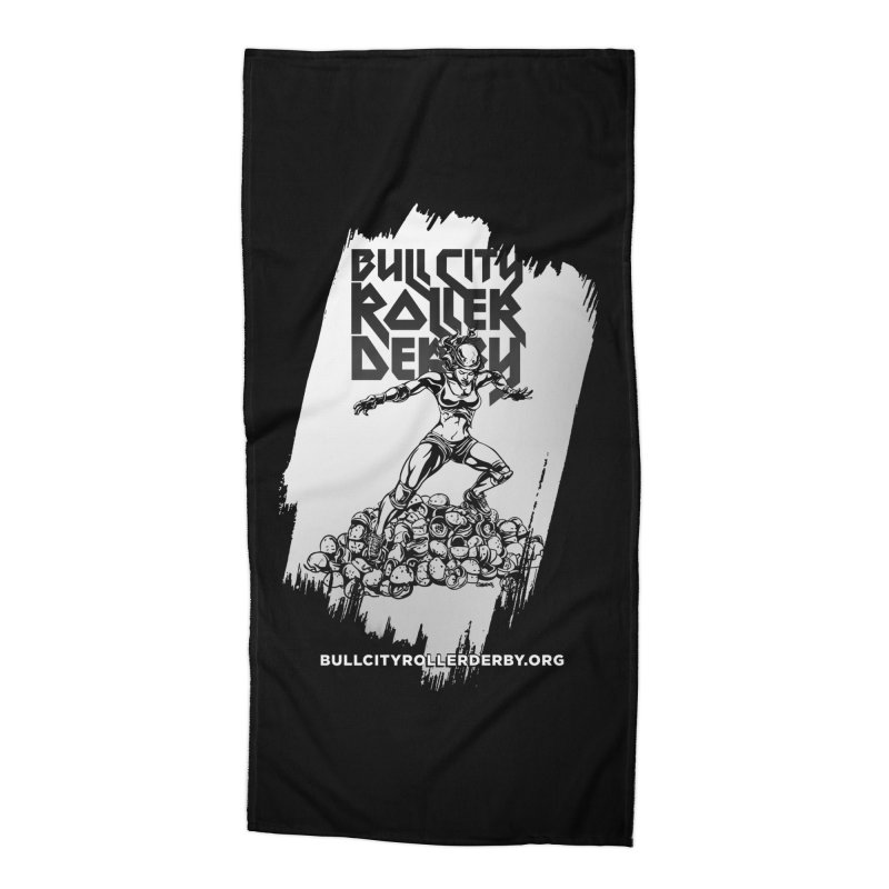 Bull City- HEAVY METAL Reverse Accessories Beach Towel by Bull City Roller Derby Shop