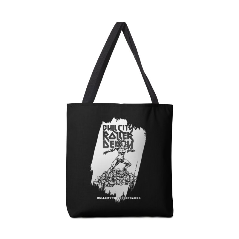 Bull City- HEAVY METAL Reverse Accessories Tote Bag Bag by Bull City Roller Derby Shop