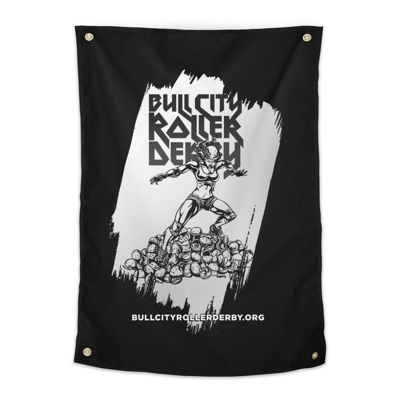 Bull City- HEAVY METAL Reverse Home Tapestry by Bull City Roller Derby Shop