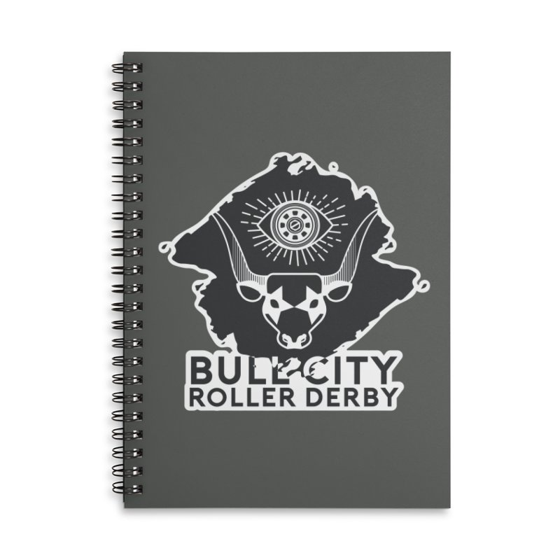 BCRD Remix! Accessories Lined Spiral Notebook by Bull City Roller Derby Shop
