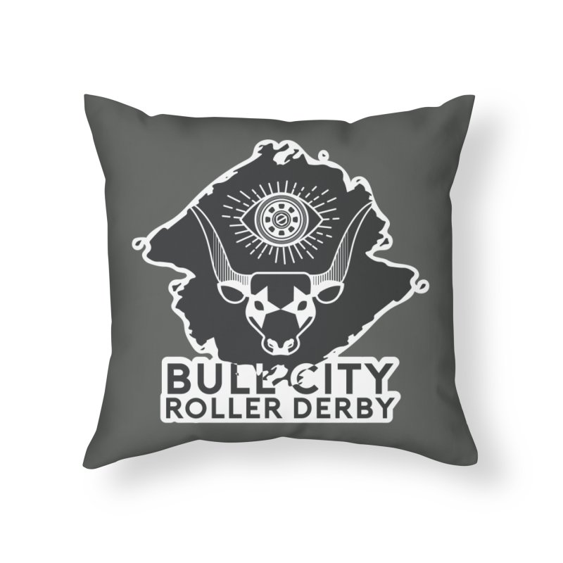 BCRD Remix! Home Throw Pillow by Bull City Roller Derby Shop