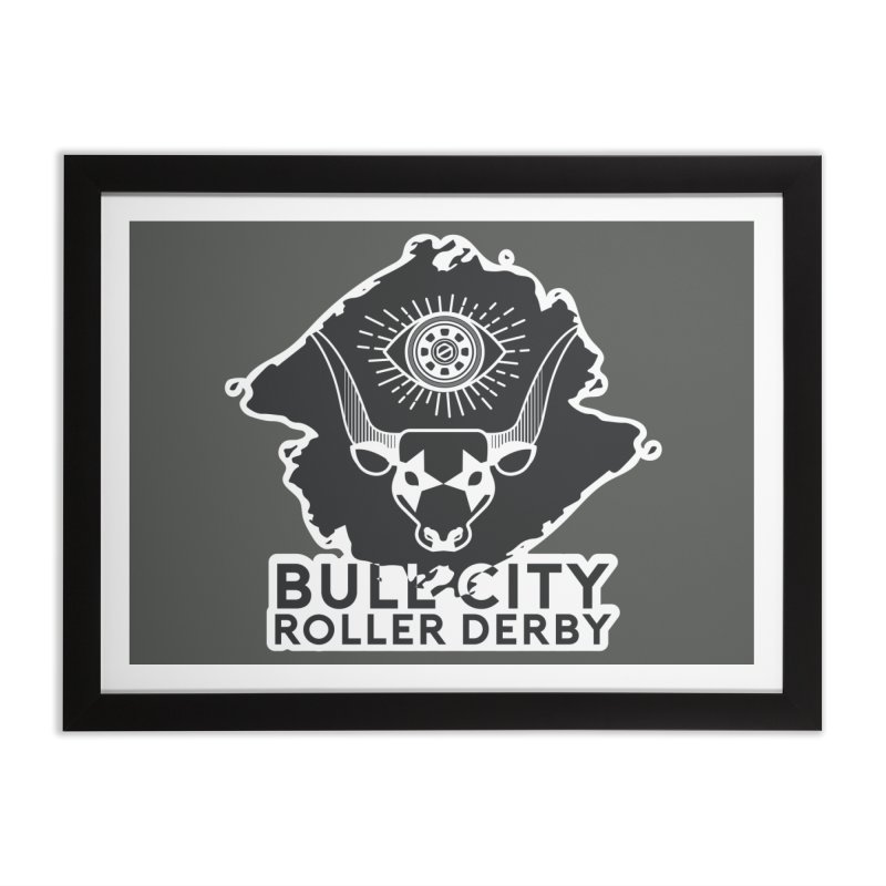 BCRD Remix! Home Framed Fine Art Print by Bull City Roller Derby Shop