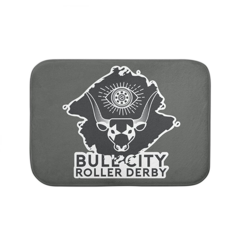 BCRD Remix! Home Bath Mat by Bull City Roller Derby Shop