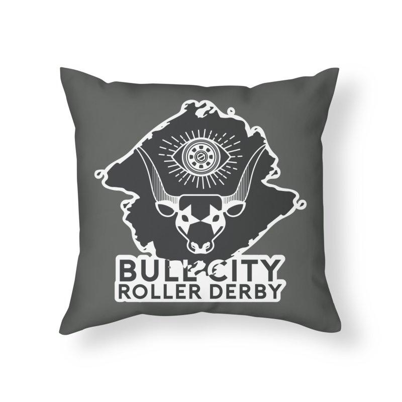 BCRD Remix! Home Throw Pillow by Bull City Roller Derby Shop