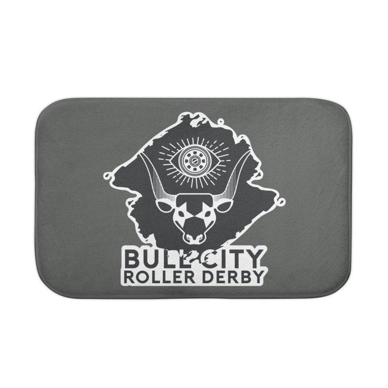 BCRD Remix! Home Bath Mat by Bull City Roller Derby Shop