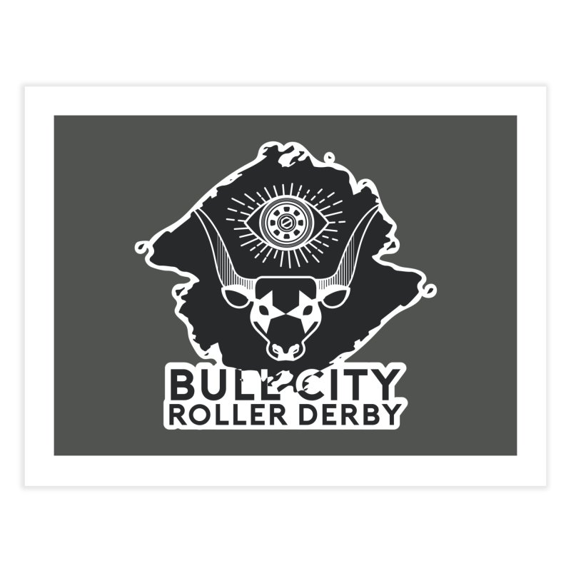 BCRD Remix! Home Fine Art Print by Bull City Roller Derby Shop