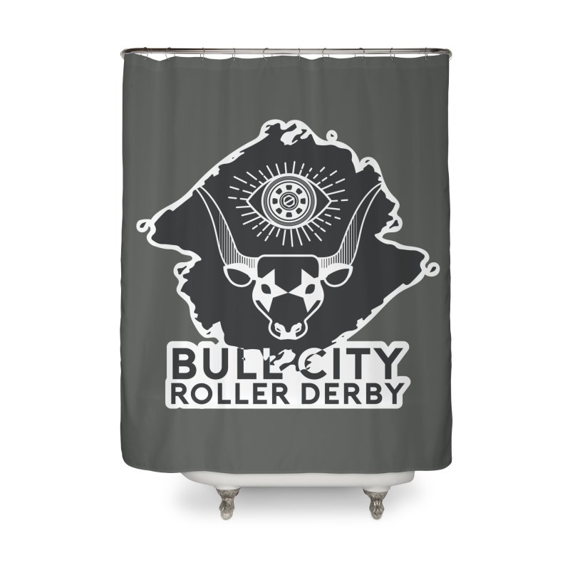 BCRD Remix! Home Shower Curtain by Bull City Roller Derby Shop