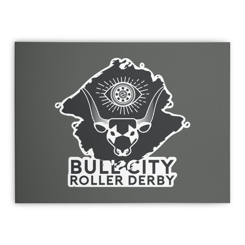 BCRD Remix! Home Stretched Canvas by Bull City Roller Derby Shop