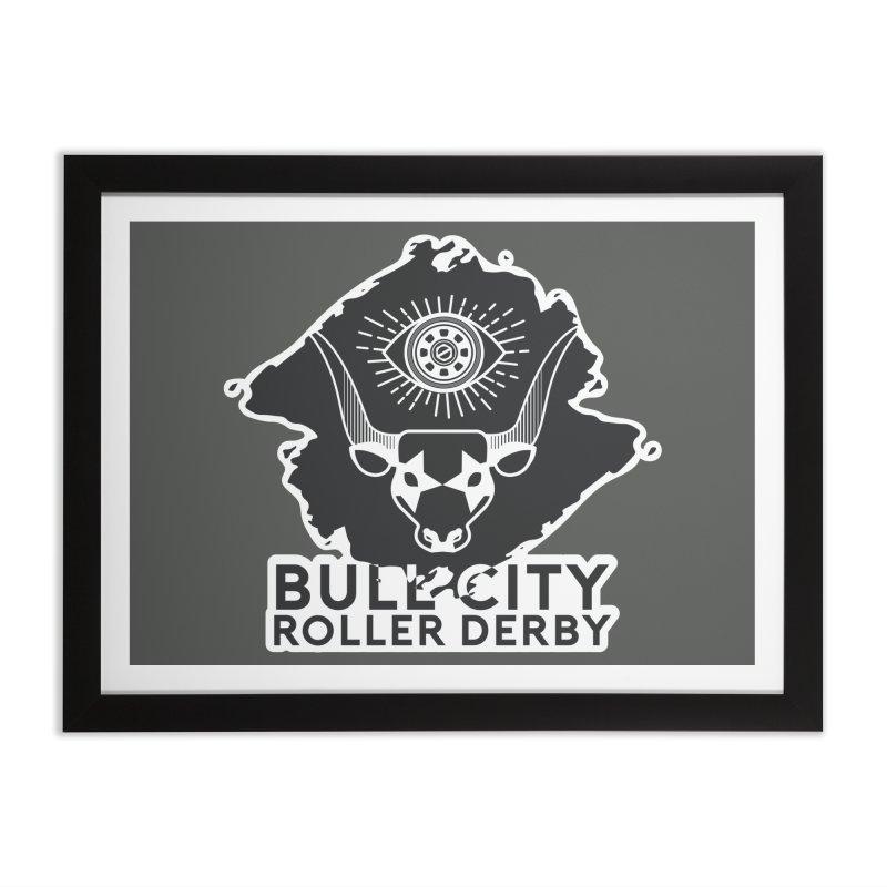 BCRD Remix! Home Framed Fine Art Print by Bull City Roller Derby Shop