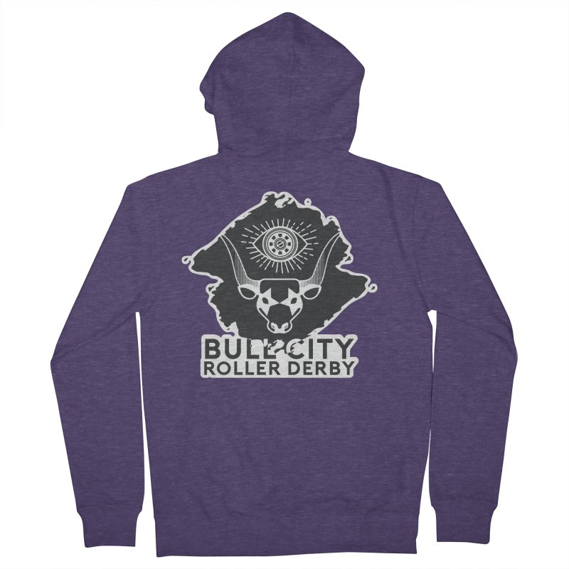 BCRD Remix! Men's French Terry Zip-Up Hoody by Bull City Roller Derby Shop
