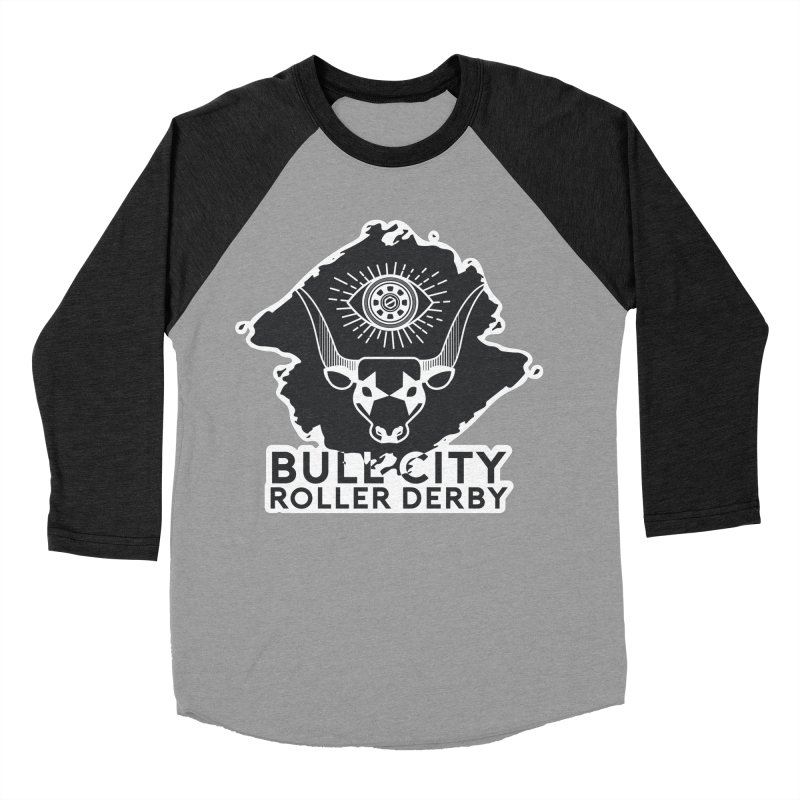 BCRD Remix! Women's Baseball Triblend Longsleeve T-Shirt by Bull City Roller Derby Shop