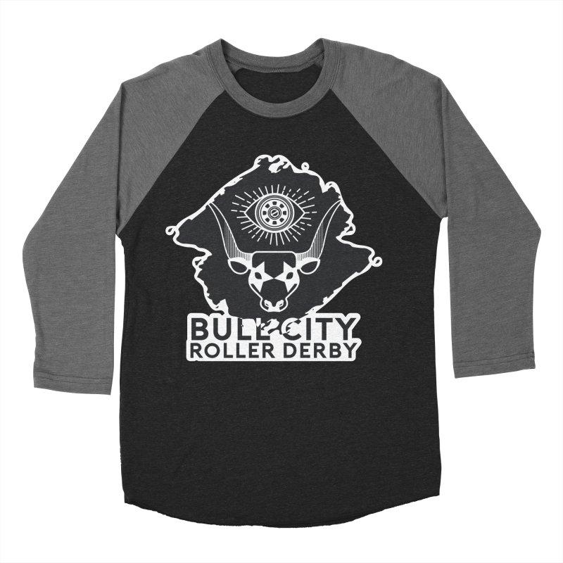 BCRD Remix! Men's Baseball Triblend Longsleeve T-Shirt by Bull City Roller Derby Shop