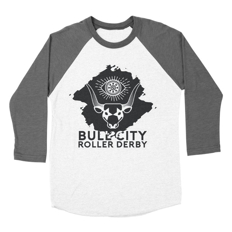 BCRD Remix! Men's Baseball Triblend Longsleeve T-Shirt by Bull City Roller Derby Shop