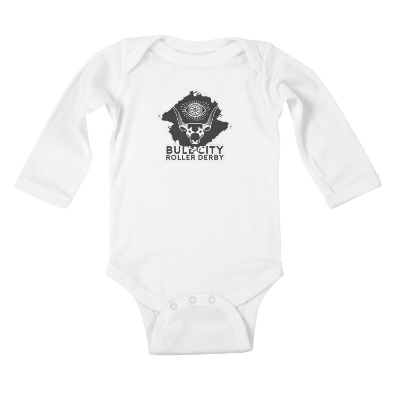 BCRD Remix! Kids Baby Longsleeve Bodysuit by Bull City Roller Derby Shop