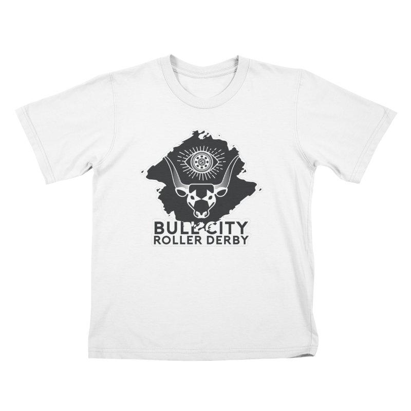 BCRD Remix! Kids T-Shirt by Bull City Roller Derby Shop