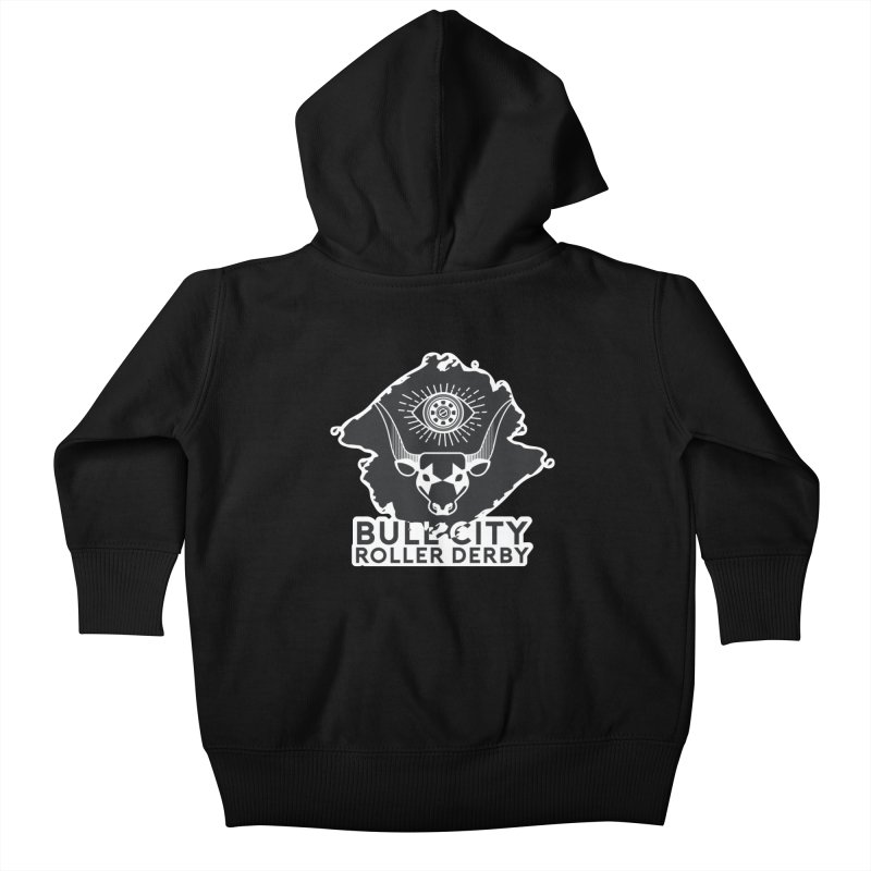 BCRD Remix! Kids Baby Zip-Up Hoody by Bull City Roller Derby Shop