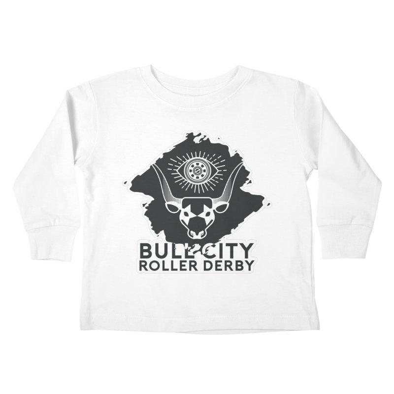 BCRD Remix! Kids Toddler Longsleeve T-Shirt by Bull City Roller Derby Shop