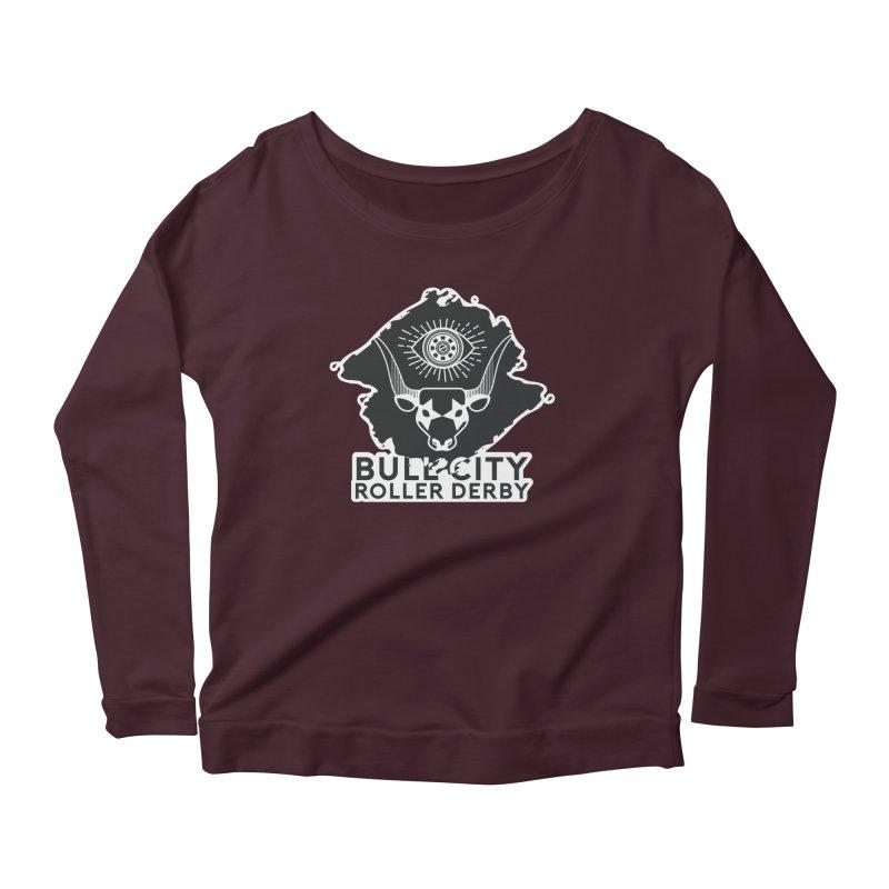 BCRD Remix! Women's Scoop Neck Longsleeve T-Shirt by Bull City Roller Derby Shop