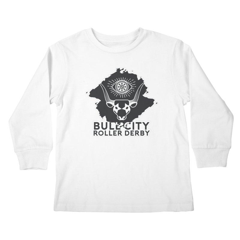 BCRD Remix! Kids Longsleeve T-Shirt by Bull City Roller Derby Shop