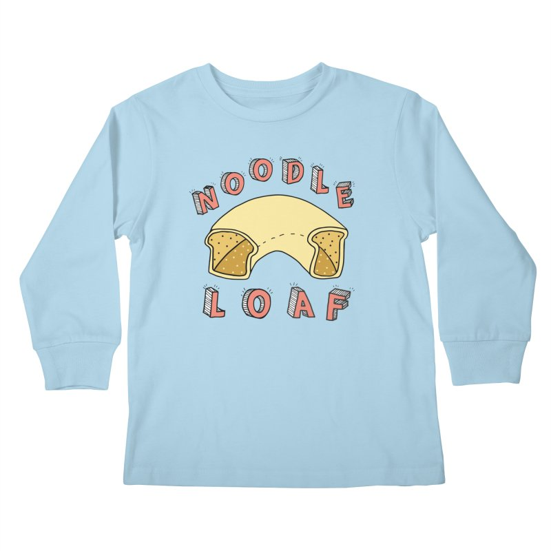 Noodle Loaf Logo Kids Longsleeve T-Shirt by Noodle Loaf - An Interactive Music Themed Podcast