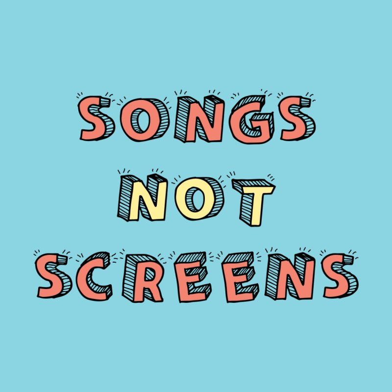 Songs Not Screens Home Framed Fine Art Print by Noodle Loaf - An Interactive Music Themed Podcast