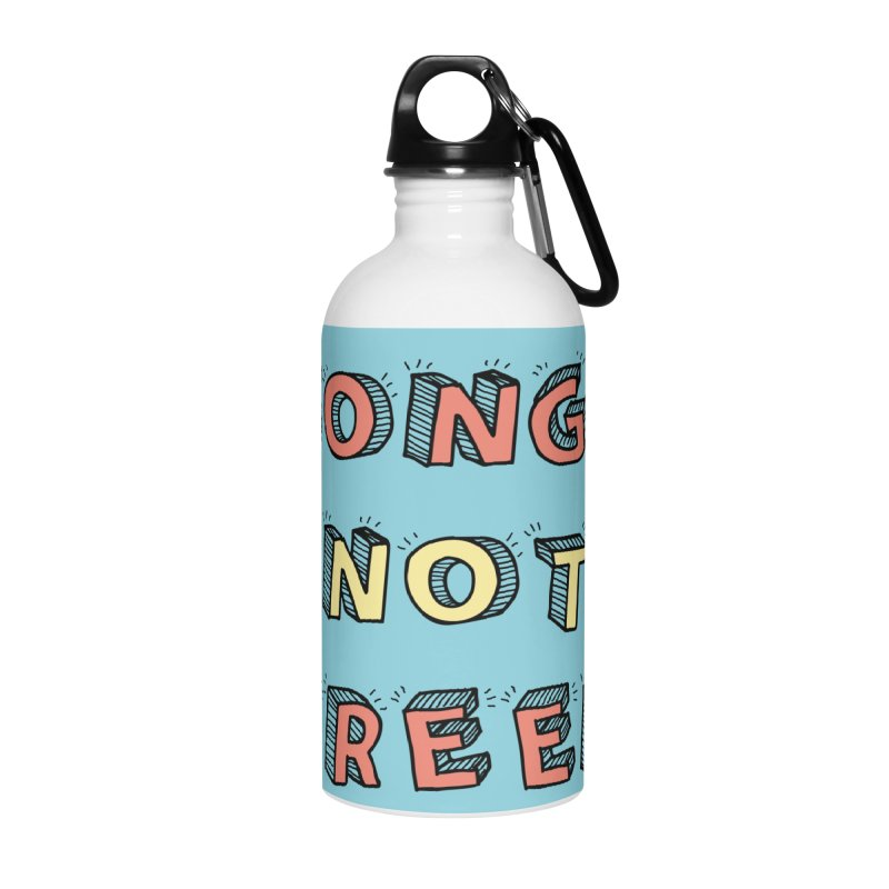 Songs Not Screens Accessories Water Bottle by Noodle Loaf - An Interactive Music Themed Podcast