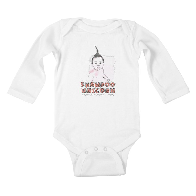 Shampoo Unicorn in Kids Baby Longsleeve Bodysuit White by Noodle Loaf - An Interactive Music Themed Podcast