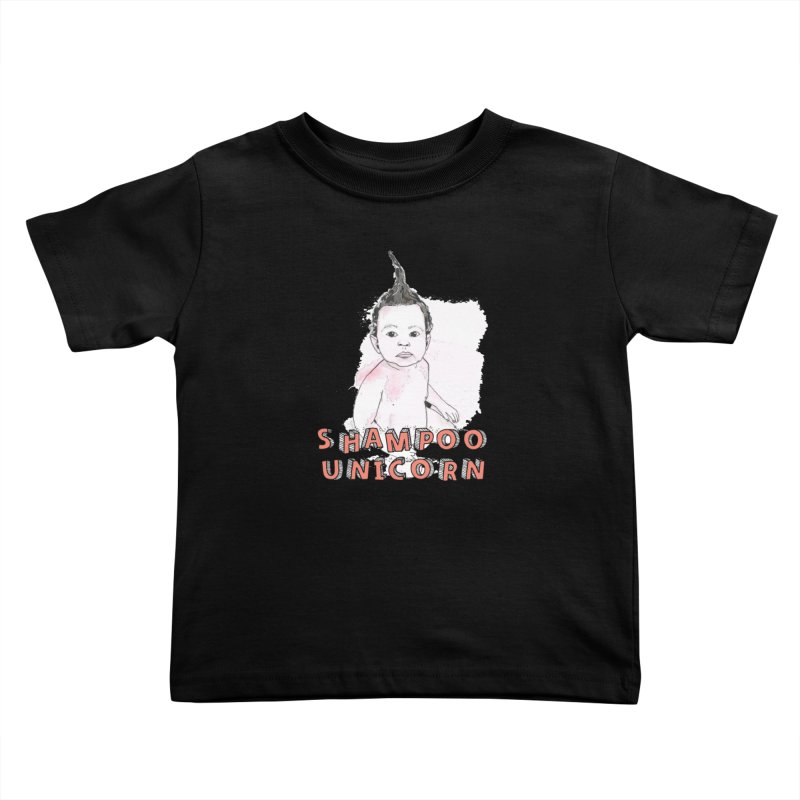 Shampoo Unicorn Kids Toddler T-Shirt by Noodle Loaf - An Interactive Music Themed Podcast