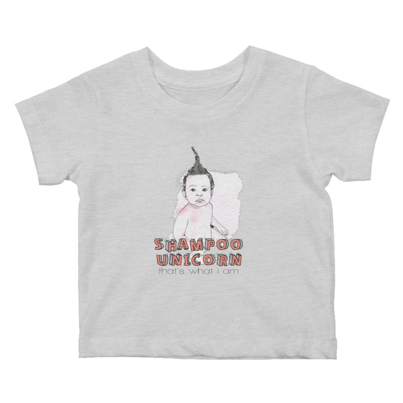 Shampoo Unicorn Kids Baby T-Shirt by Noodle Loaf - An Interactive Music Themed Podcast