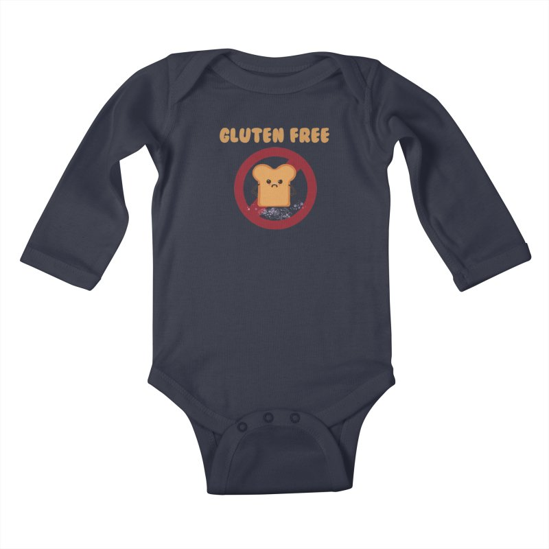 Gluten freelings Kids Baby Longsleeve Bodysuit by noomi's Artist Shop