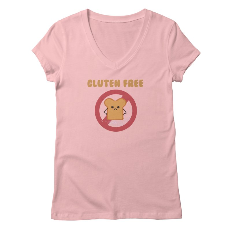 Gluten freelings Women's V-Neck by noomi's Artist Shop