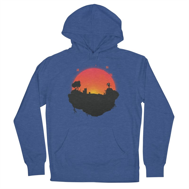 Sunrise of robot island Men's Pullover Hoody by noomi's Artist Shop