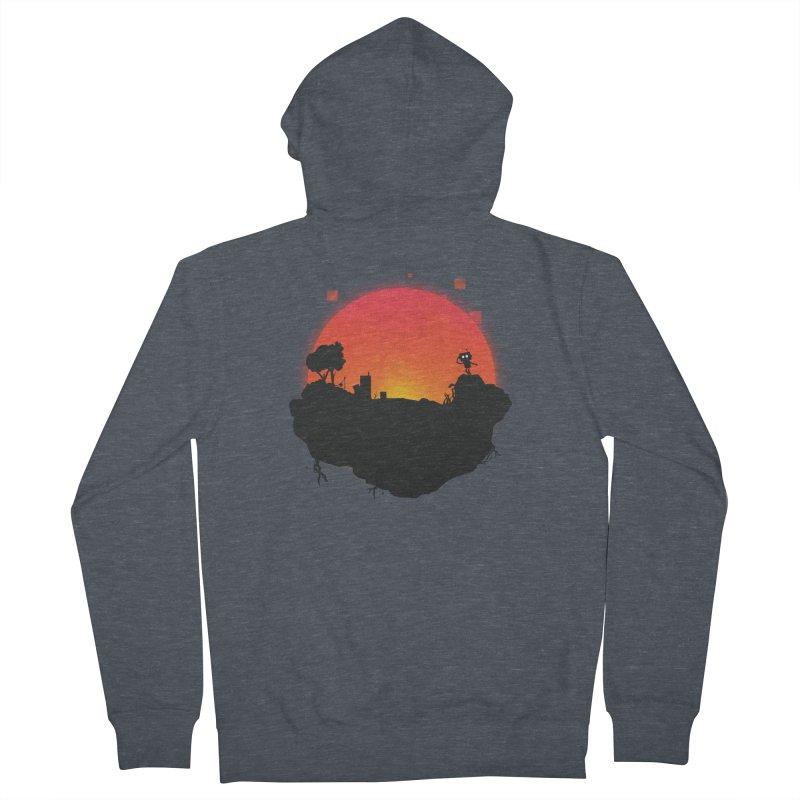 Sunrise of robot island Men's Zip-Up Hoody by noomi's Artist Shop
