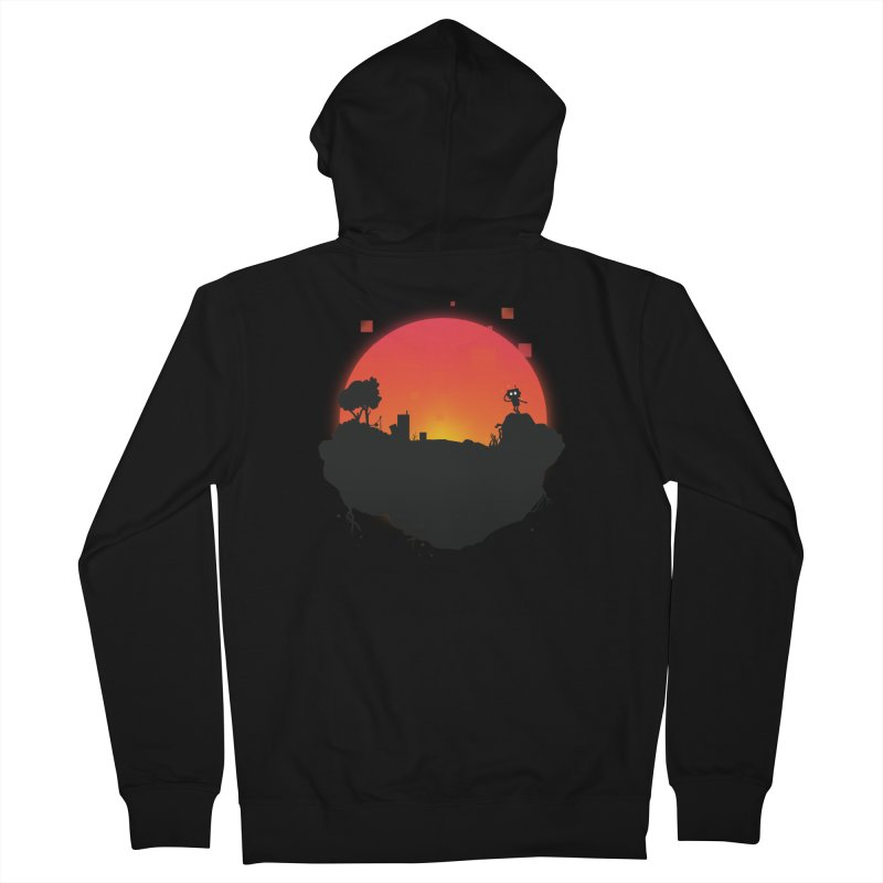 Sunrise of robot island Men's Zip-Up Hoody by noomi's Artist Shop