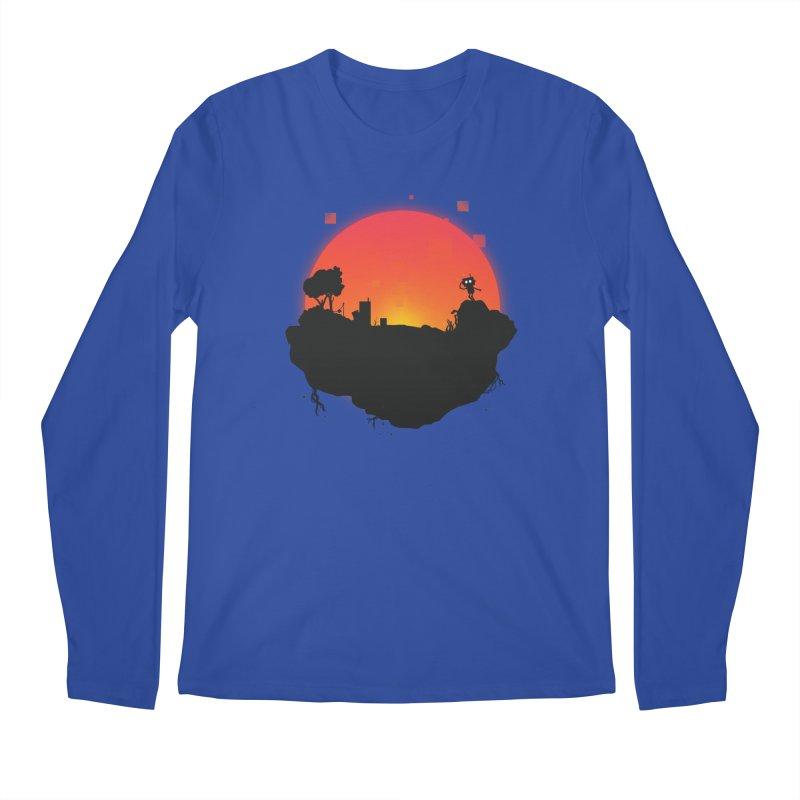 Sunrise of robot island Men's Longsleeve T-Shirt by noomi's Artist Shop