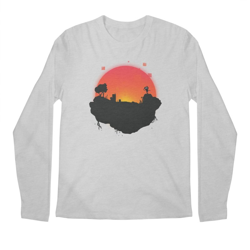 Sunrise of robot island Men's Longsleeve T-Shirt by noomi's Artist Shop