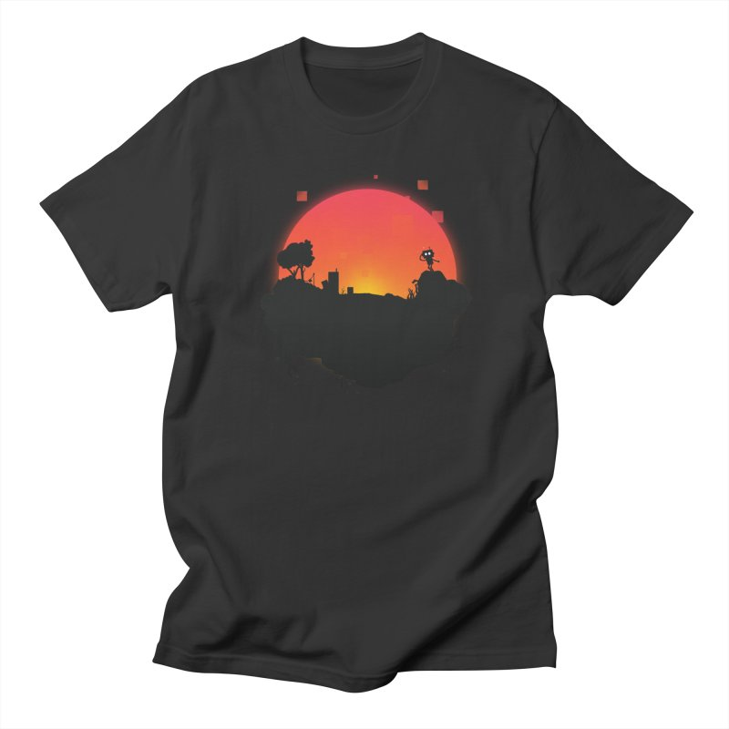 Sunrise of robot island Men's T-shirt by noomi's Artist Shop