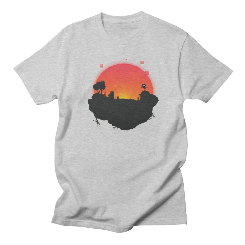 Sunrise of robot island Men's T-Shirt by noomi's Artist Shop