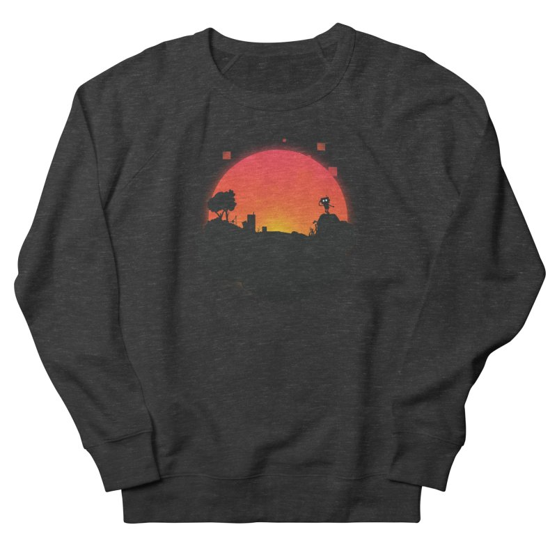Sunrise of robot island Men's Sweatshirt by noomi's Artist Shop