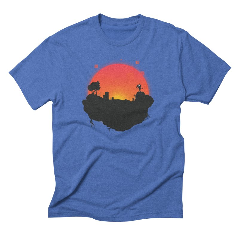 Sunrise of robot island Men's Triblend T-Shirt by noomi's Artist Shop