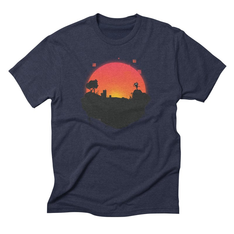 Sunrise of robot island Men's Triblend T-shirt by noomi's Artist Shop